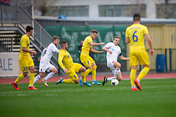 Ales Mertelj of Triglav, Dejan Lazarevic and Janez Pisek of Domzale during football match between NK Domzale and NK Triglav in Round #18 of Prva liga Telekom Slovenije 2019/20, on November 23, 2019 in Sports park Domzale, Slovenia. Photo by Sinisa Kanizaj / Sportida