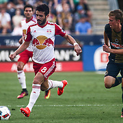 New York Red Bulls Midfielder FELIPE MARTINS (8) dribbles down the field in the first half of a Major League Soccer match between the Philadelphia Union and New York Red Bulls Sunday, July. 17, 2016 at Talen Energy Stadium in Chester, PA.