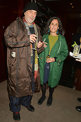RON ARAD and his wife ALMA at a dinner hosted by Liberatum to honour Francis Ford Coppola held at the Bulgari Hotel & Residences, 171 Knightsbridge, London on 17th November 2014.
