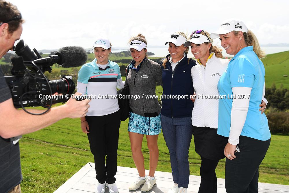 Kauri Bay Boomrock Pro Am prizegiving.<br /> McKayson NZ Women's Open 2017. LPGA Tour. Windross Farm, Auckland, New Zealand. Wednesday 27 September 2017. &copy; Copyright Photo: Andrew Cornaga /www.photosport.nz