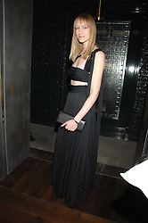 JADE PARFITT at a party to launch the Dom Perignon OEotheque 1995 held at The Landau, Portland Place, London W1 on 26th February 2008.<br />