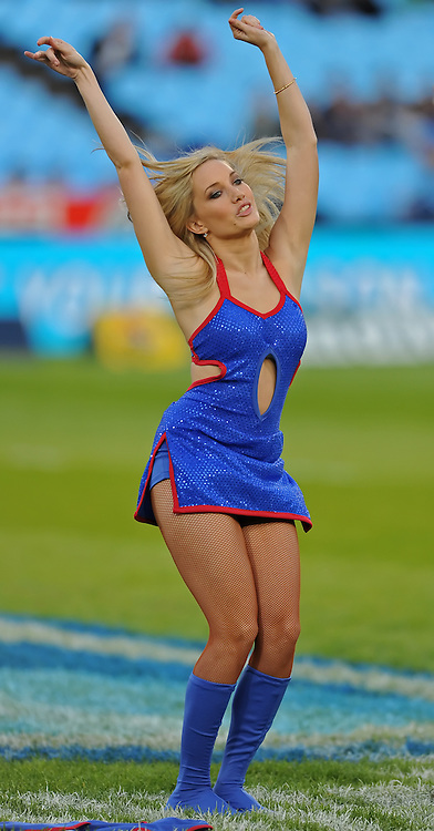 PRETORIA, South Africa, 14 May 2011. A Bulls Babe during the Super15 Rugby match between the Bulls and the Melbourne Rebels at Loftus Versfeld in Pretoria, South Africa on 14 May 2011.<br /> Photographer : Anton de Villiers / SPORTZPICS