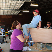 Family boat building weekend at UNH