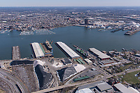 Port of Baltimore aerial image of North Locust Point by Jeffrey Sauers of Commercial Photographics, Architectural Photo Artistry in Washington DC, Virginia to Florida and PA to New England