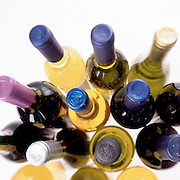Group of wine bottles