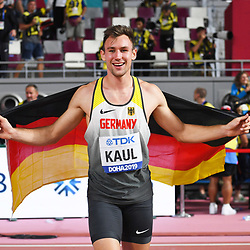 Doha, IAAF, Leichtathletik, athletics, Track and Field, World athletics Championships 2019  Doha, Leichtathletik WM 2019 Doha, 27.09-06.10.2019, .Khalifa International Stadium Doha, Zehnkampf Männer, Niklas Kaul Deutschland Fotocopyright Gladys Chai von  der Laage ..Photo by Icon Sport - Niklas KAUL - Khalifa International Stadium - Doha (Qatar)