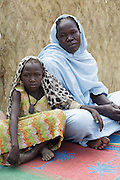 Fatime Abdramane, 30, sits at home with her daughter Nafaye, 6 in the village of Game, Guera province, Chad on Tuesday October 16, 2012.
