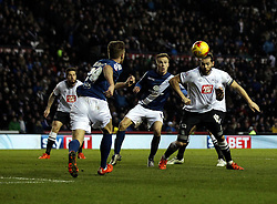 Bradley Johnson of Derby County heads the ball - Mandatory byline: Robbie Stephenson/JMP - 16/01/2016 - FOOTBALL - iPro Stadium - Derby, England - Derby County v Birmingham City - Sky Bet Championship