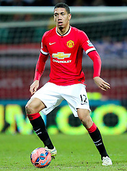 Chris Smalling of Manchester United - Photo mandatory by-line: Matt McNulty/JMP - Mobile: 07966 386802 - 16/02/2015 - SPORT - Football - Preston - Deepdale - Preston North End v Manchester United - FA Cup - Fifth Round