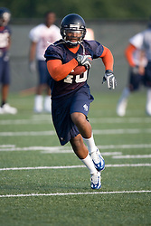 Corey Mosley (40)..The 2007 Virginia Cavaliers football team opened fall practice on August 6, 2007 at the University of Virginia football practice fields near the McCue Center in Charlottesville, VA.