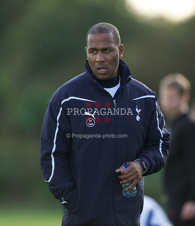 LONDON, ENGLAND - Wednesday, October 19, 2011: Tottenham Hotspur's coach Les Ferdinand during the NextGen Series Group 4 match against PSV Eindhoven at the Spurs Lodge. (Pic by David Rawcliffe/Propaganda)