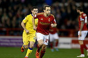 Nottingham Forest midfielder David Vaughan  during the Sky Bet Championship match between Nottingham Forest and Leeds United at the City Ground, Nottingham, England on 27 December 2015. Photo by Simon Davies.