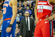 New York Knicks head coach David Fizdale during the NBA London Game match between Washington Wizards and New York Knicks at the O2 Arena, London, United Kingdom on 17 January 2019.