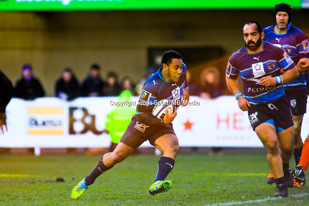 Anthony TUITAVAKE - 25.01.2015 -  Montpellier / Toulouse - European Champions Cup <br /> Photo : Nicolas Guyonnet / Icon Sport