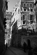 Street in the Yasir Quarter of Old Sanaa.
