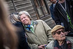 THEMENBILD - Das Stammlager Auschwitz I gehörte neben dem Vernichtungslager KZ Auschwitz II–Birkenau und dem KZ Auschwitz III–Monowitz zum Lagerkomplex Auschwitz und war eines der größten deutschen Konzentrationslager. Es befand sich zwischen Mai 1940 und Januar 1945 nach der Besetzung Polens im annektierten polnischen Gebiet des nun deutsch benannten Landkreises Bielitz am südwestlichen Rand der ebenfalls umbenannten Kleinstadt Auschwitz (polnisch Oświęcim). Teile des Lagers sind heute staatliches polnisches Museum bzw. Gedenkstätte. Im Bild der überlebende Marko Feingold und seine Frau Hannah Feingold, aufgenommen am 11.04.2018, Oswiecim, Polen // Auschwitz concentration camp was a network of concentration and extermination camps built and operated by Nazi Germany in occupied Poland during World War II. It consisted of Auschwitz I (the original concentration camp), Auschwitz II–Birkenau (a combination concentration/extermination camp), Auschwitz III–Monowitz (a labor camp to staff an IG Farben factory), and 45 satellite camps. Concentration camp Auschwitz I, Oswiecim, Poland on 2018/04/11. EXPA Pictures © 2018, PhotoCredit: EXPA/ Florian Schroetter