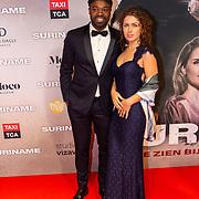 NLD/Amsterdam/20200217-Suriname filmpremiere, Ramon Beuk en partner Julia