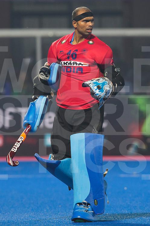 BHUBANESWAR (India) -  Hero Champions Trophy hockey men. Semifinal India vs Pakistan. keeper Sreejesh Parattu of India.  Photo Koen Suyk