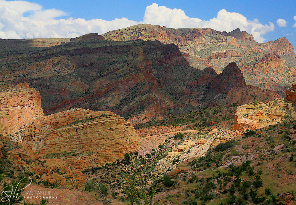 Scenic vista of mountains along the Apache Trail