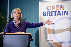 © Licensed to London News Pictures. 28/11/2016. London, UK. Conservative MP Anna Soubry speaks at the 'Open Britain' event, a cross-party campaign arguing for continued membership of the single market, following Britain's decision to leave the EU. Photo credit : Tom Nicholson/LNP
