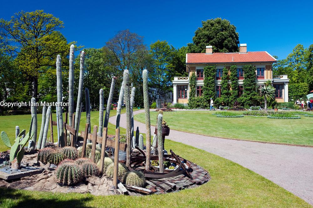 cactus display at Tradgardsforeningen Park in Gothenburg Sweden