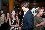ANNA POPPLEWELL; TOM WISDOM, Party after the European premiere of Creation  at the Curzon Mayfair. Party at 17 Berkeley St. London.  13 September 2009.