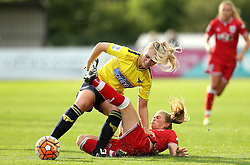 Millie Farrow of Bristol City Women tackles Rosie Lane of Oxford United - Mandatory by-line: Robbie Stephenson/JMP - 25/06/2016 - FOOTBALL - Stoke Gifford Stadium - Bristol, England - Bristol City Women v Oxford United Women - FA Women's Super League 2