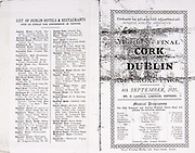 All Ireland Senior Hurling Championship Final,.04.09.1927, 09.04.1927, 4th September 1927, .Cork 1-3, Dublin 4-8,.Senior Cork v Dublin, .Croke Park, .0491927AISHCF,.Advertisements, List of Dublin Hotels & Restaurants, .