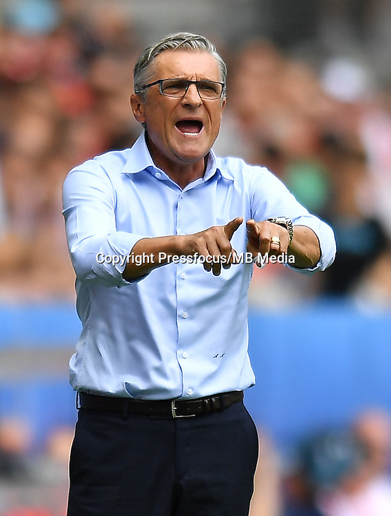 2016.06.25 Saint-Etienne<br /> Pilka nozna Euro 2016<br /> mecz 1/8 finalu Szwajcaria - Polska<br /> N/z Adam Nawalka trener head coach<br /> Foto Lukasz Laskowski / PressFocus<br /> <br /> 2016.06.25<br /> Football UEFA Euro 2016 <br /> Round of 16 game between Switzerland and Poland<br /> Adam Nawalka trener head coach<br /> Credit: Lukasz Laskowski / PressFocus