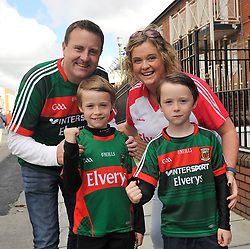 From Belmullet Larry, Sean and Danny Howard and Noreen Vaughan at the All Ireland Football Final<br /> Pic Conor McKeown