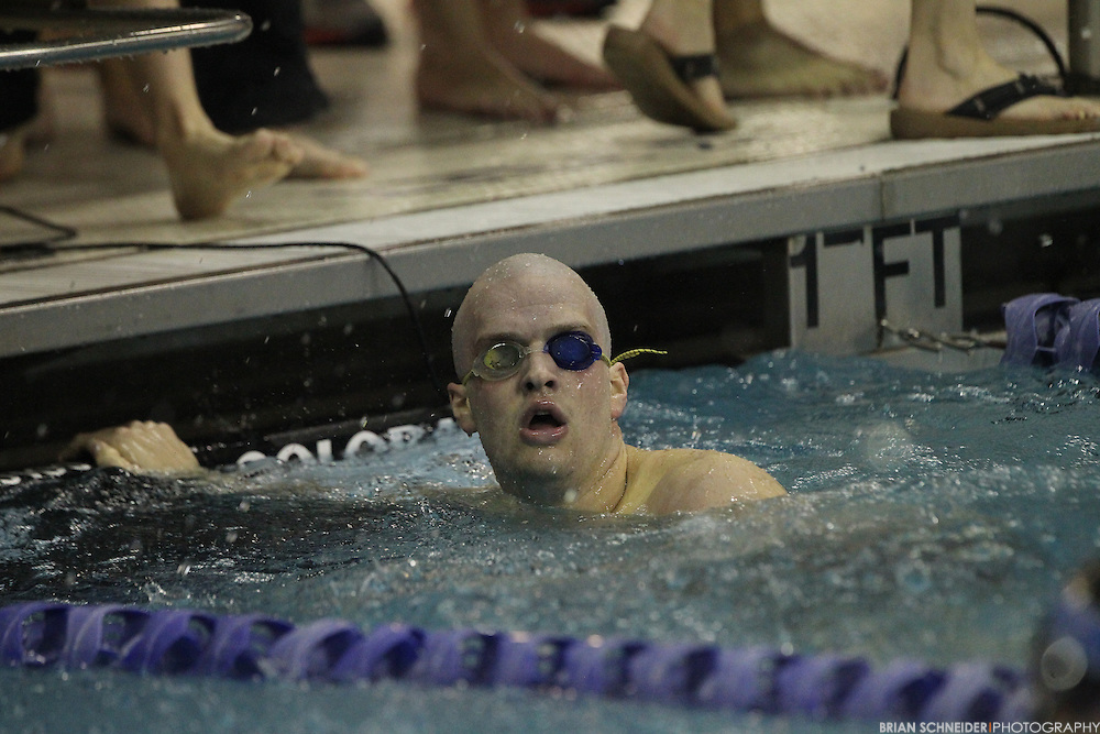 Feb 15, 2015; Germantown, MD, USA; The Landmark Conference Swimming and Diving Championship at the Germantown Swim Complex in Germantown, MD. Mandatory Credit: Brian Schneider/www.ebrianschneider.com