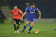 AFC Wimbledon midfielder Tom Beere (16) during the EFL Trophy match between AFC Wimbledon and U23 Brighton and Hove Albion at the Cherry Red Records Stadium, Kingston, England on 6 December 2016.
