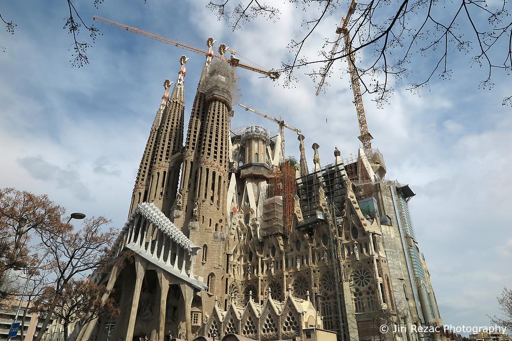 SPAIN CATALONIA BARCELONA 13MAR17 - General view of the Sagrada Familia, a mammoth Basilica construction project spanning more than a century by Catalan architect Antoni Gaudi.<br /> <br /> jre/Photo by Jiri Rezac<br /> <br /> © Jiri Rezac 2017