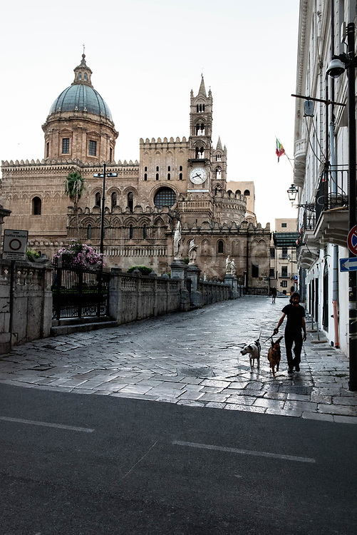 Sunrise on the Cathedral of Palermo, a monument belonging to the Norman Arabian Circuit and the heart of the old town, where many popular folk families live alongside many young professionals and creatives attracted by the low cost of real estate