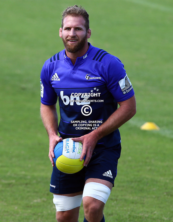 DURBAN, SOUTH AFRICA, 22,MARCH, 2016 - Kieran Read during The Crusaders training session  at Northwood School Durban North in Durban, South Africa. (Photo by Steve Haag)<br /> <br /> images for social media must have consent from Steve Haag