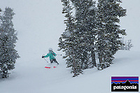 Jessica Laman (age 9) skiing at Whistler Mountain.