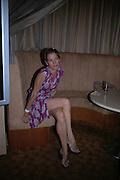 Sarah Stockbridge. Rushes Soho Shorts Awards evening. 23 Coventry St. London. 4 August 2005. ONE TIME USE ONLY - DO NOT ARCHIVE  © Copyright Photograph by Dafydd Jones 66 Stockwell Park Rd. London SW9 0DA Tel 020 7733 0108 www.dafjones.com