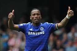 Chelsea's Didier Drogba puts his thumbs up. - Photo mandatory by-line: Alex James/JMP - Mobile: 07966 386802 - 24/05/2015 - SPORT - Football - London - Stamford Bridge - Chelsea v Sunderland - Barclays Premier League