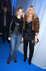 Left to right, CHRISTINA KNUDSEN and BEVERLEY BLOOM at a VIP party to celebrate the launch of the new Fiat Punto held at the Truman Brewery 91 Brick Lane, Loncon on 19th January 2006.<br />
