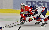 Ishockey , <br /> Norge - Slovakia<br /> GRAZ,AUSTRIA,11.FEB.17 - ICE HOCKEY  - Oesterreich Cup, international match, Norway vs Slovakia. Image shows Tommy Kristiansen (NOR) and Matus Holenda (SVK). <br /> Norway onlyNorway only