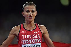 26-08-2015 CHN: IAAF World Championships Athletics day 5, Beijing<br /> Second placed Habiba Ghribi TUN, 3000m steeplechase<br /> Photo by Ronald Hoogendoorn / Sportida