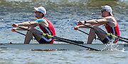 Brandenburg. GERMANY.<br /> NED LM2X. Bow. <br /> Tycho MUDA and Vincent<br /> MUDA, 2016 European Rowing Championships at the Regattastrecke Beetzsee<br /> <br /> Saturday  07/05/2016<br /> <br /> [Mandatory Credit; Peter SPURRIER/Intersport-images]