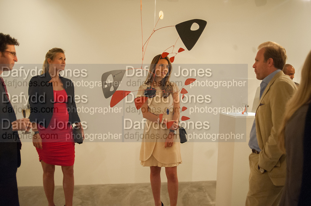 RODRIGO CORTES; CATALINA MARCH; BEATRIZ ORDOVAS;; TOMASO CREMONESI, Pilar Ordovas hosts a Summer Party in celebration of Calder in India, Ordovas, 25 Savile Row, London 20 June 2012