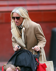 TV presenter Denise Van Outen out with her daughter Betsy in north London. Denise was looking tanned after a recent holiday in Dubai went to health and beauty salon to get her eyebrows threaded. The Strictly Come Dancing finalist left the salon wearing a pair of big shades before heading home... London, UK. 10/01/2013<br />BYLINE MUST READ : GOTCHAIMAGES.COM<br /><br />Copyright by © Gotcha Images Ltd. All rights reserved.<br />Usage of this image is conditional upon the acceptance <br />of Gotcha Images Ltd, terms and conditions available at<br />www.gotchaimages.com