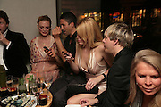 HEATHER GRAHAM, MEREDITH OSTRON AND NICK RHODES, Party hosted by Larry Gagosian at Nobu, Berkeley St. London. 9 October 2007. -DO NOT ARCHIVE-© Copyright Photograph by Dafydd Jones. 248 Clapham Rd. London SW9 0PZ. Tel 0207 820 0771. www.dafjones.com.