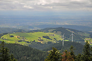 View of the mountain Schauinsland, Baden-Wurttemberg, Germany,