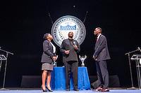 Howard vs. Hampton debate, More than a Game, debate, chair, judge, Cramton Auditorium, Dr. Greg Carr