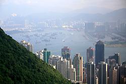 CHINA HONG KONG 26MAY10 - Scenic view of Hong Kong's busy Central district and Victoria Harbour from The Peak on Hong Kong Island...jre/Photo by Jiri Rezac..© Jiri Rezac 2010