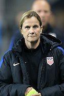 CHESTER, PA - MARCH 01: U.S. head coach Jill Ellis (ENG). The United States Women's National Team played the Germany Women's National Team as part of the She Believes Cup on March 1, 2017, at Talen Engery Stadium in Chester, PA. The United States won the game 1-0.