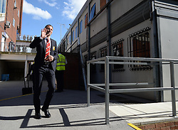 Manchester United's Ryan Giggs Arrives at Selhurst Park. - Photo mandatory by-line: Alex James/JMP - Mobile: 07966 386802 - 09/05/2015 - SPORT - Football - London - Selhurst Park - Crystal Palace v Manchester United - Barclays Premier League